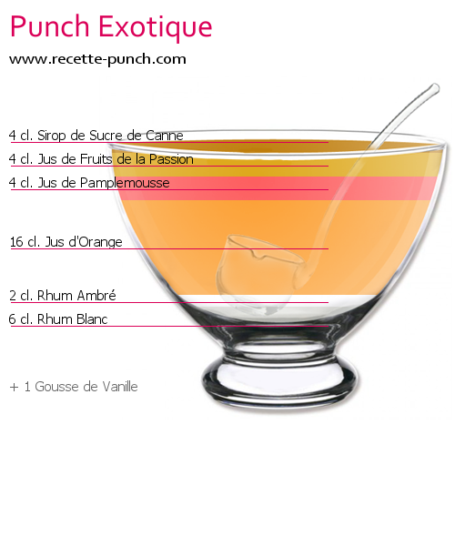Cocktail PUNCH EXOTIQUE