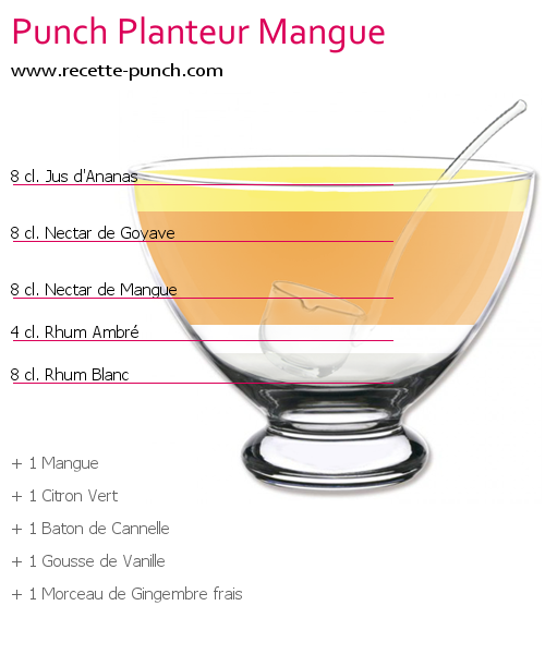 Cocktail PUNCH PLANTEUR MANGUE